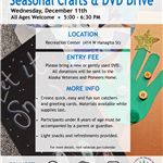 Seasonal Crafts and DVD Drive Flyer
