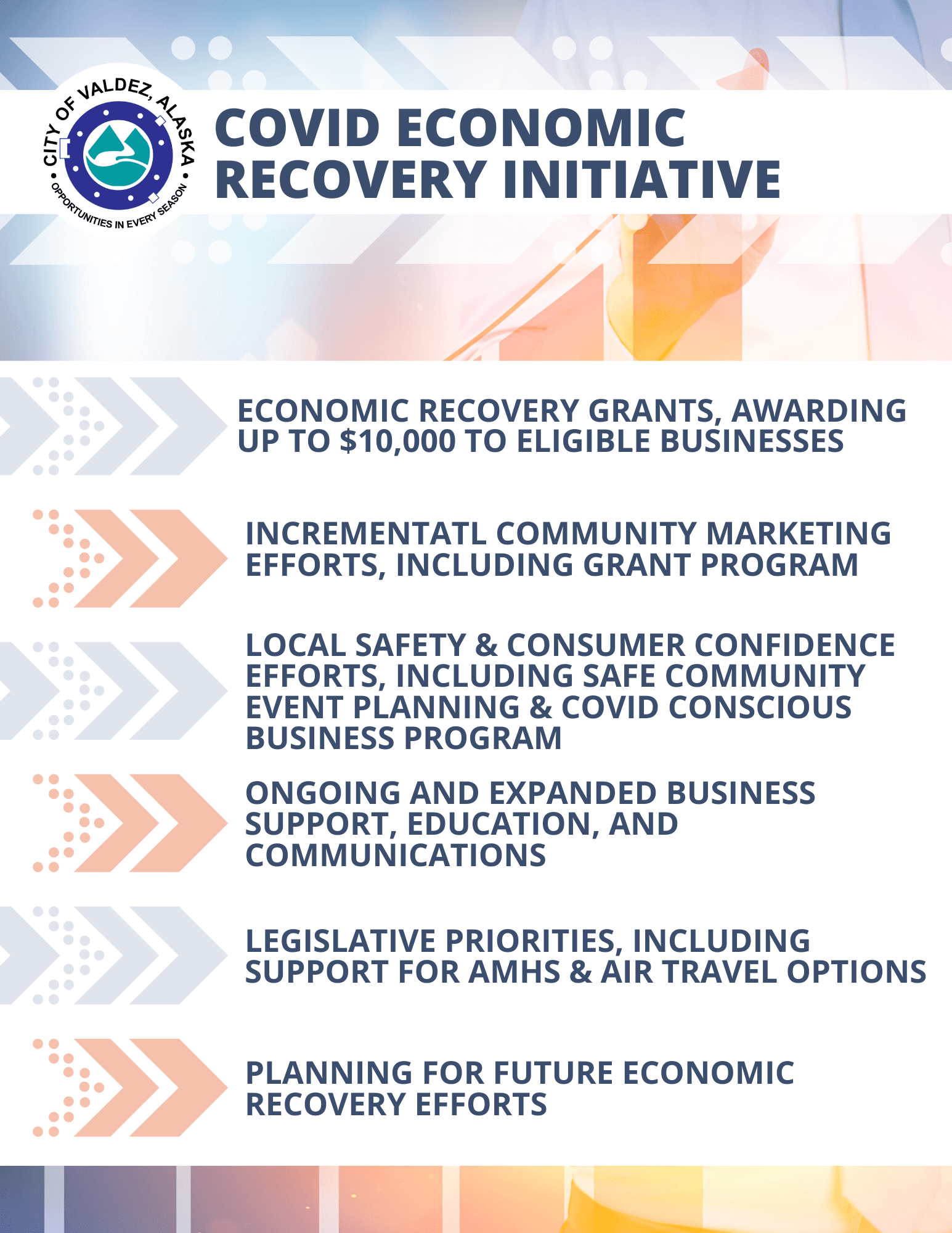 COVID Economic Recovery Initiative Overview Graphic