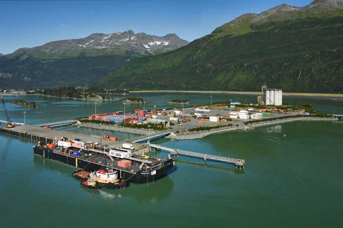 East side of the Valdez Container Terminal