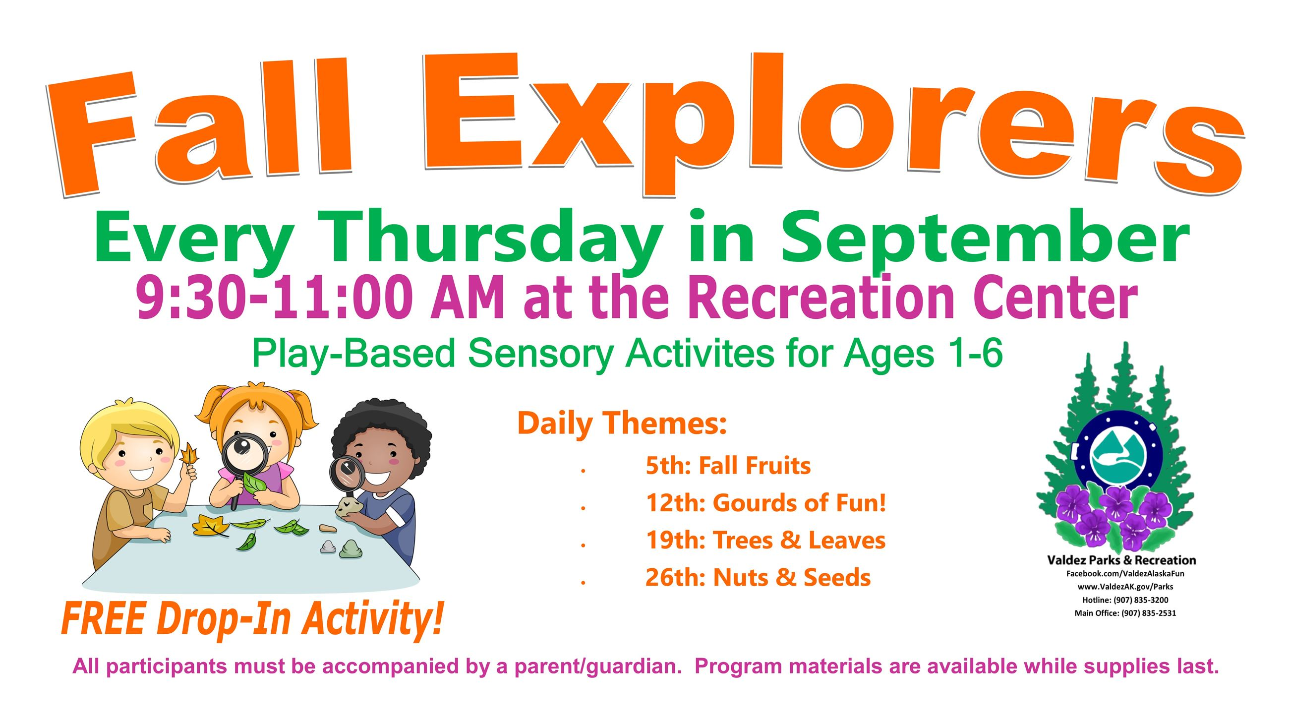 Fall Explorers_Thursdays Sept 2019