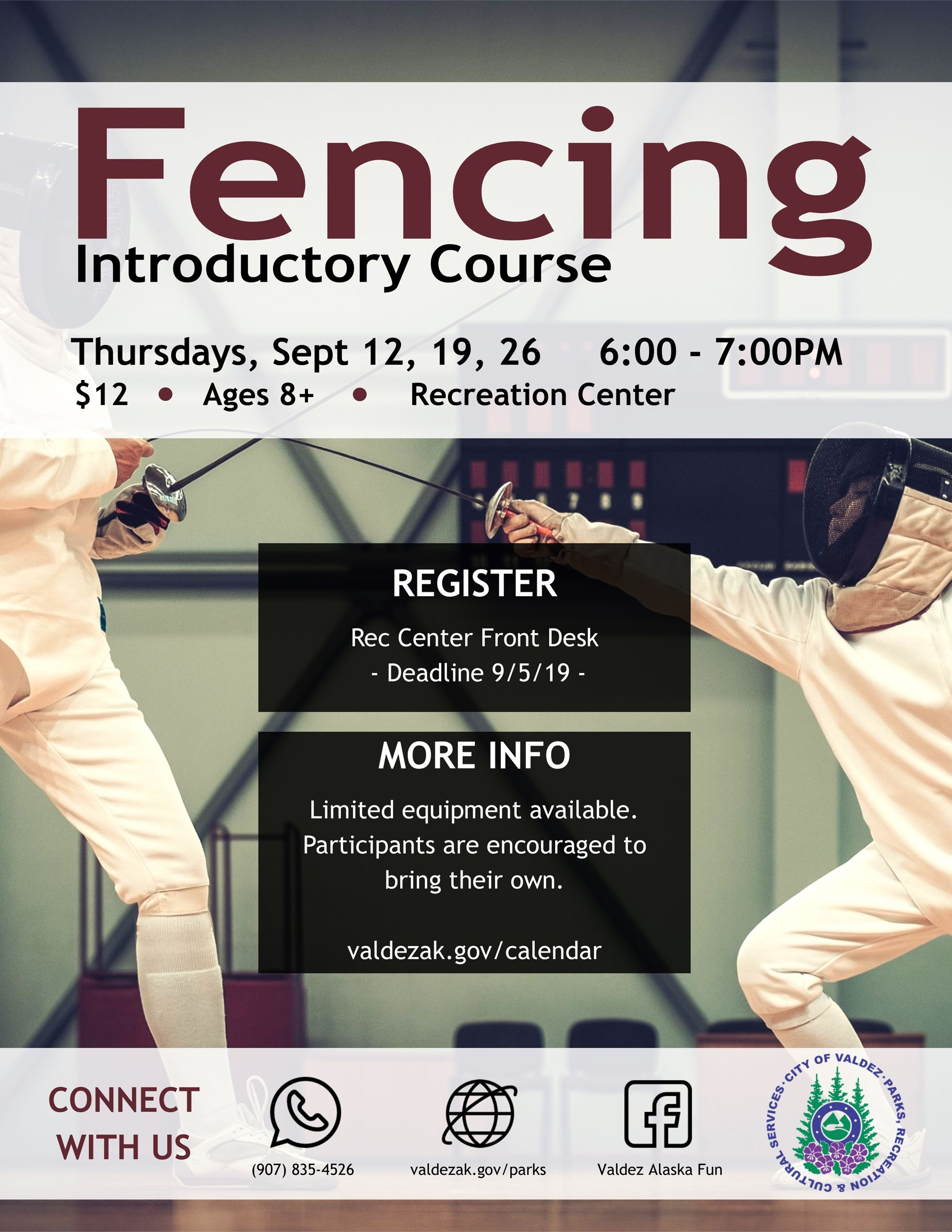 Fencing Lessons Flyer Sept 19
