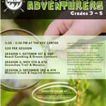 After School Adventurers Fall 2020 Flyer