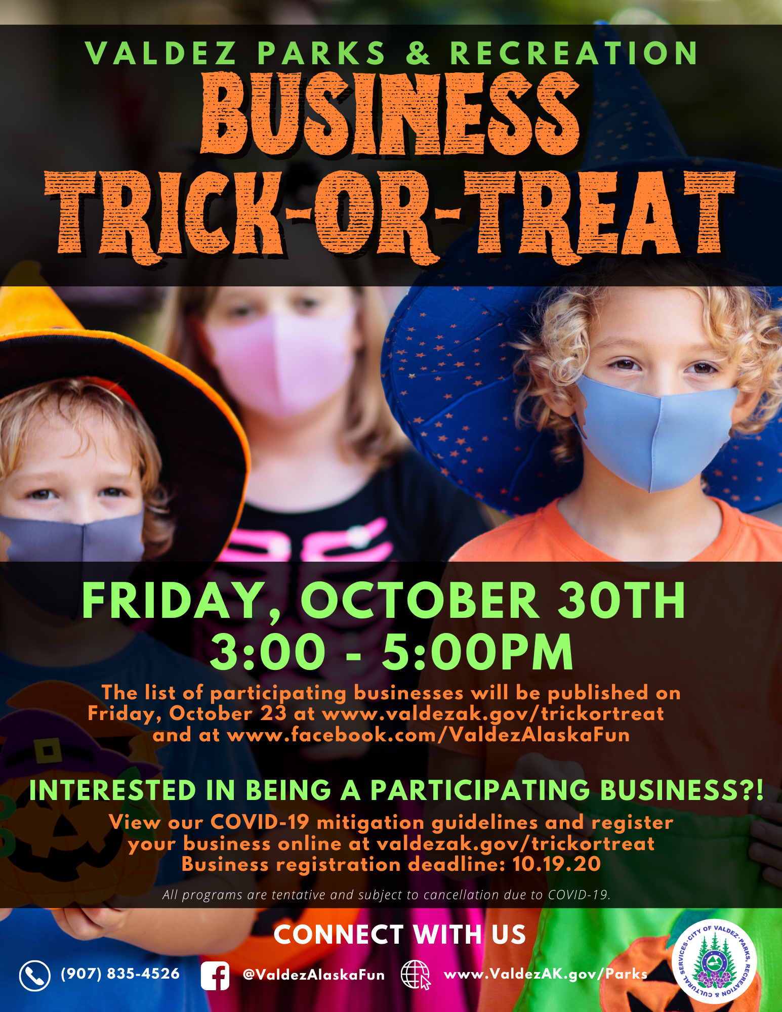 Business Trick or Treat Flyer