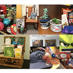 Photo collage of book baskets