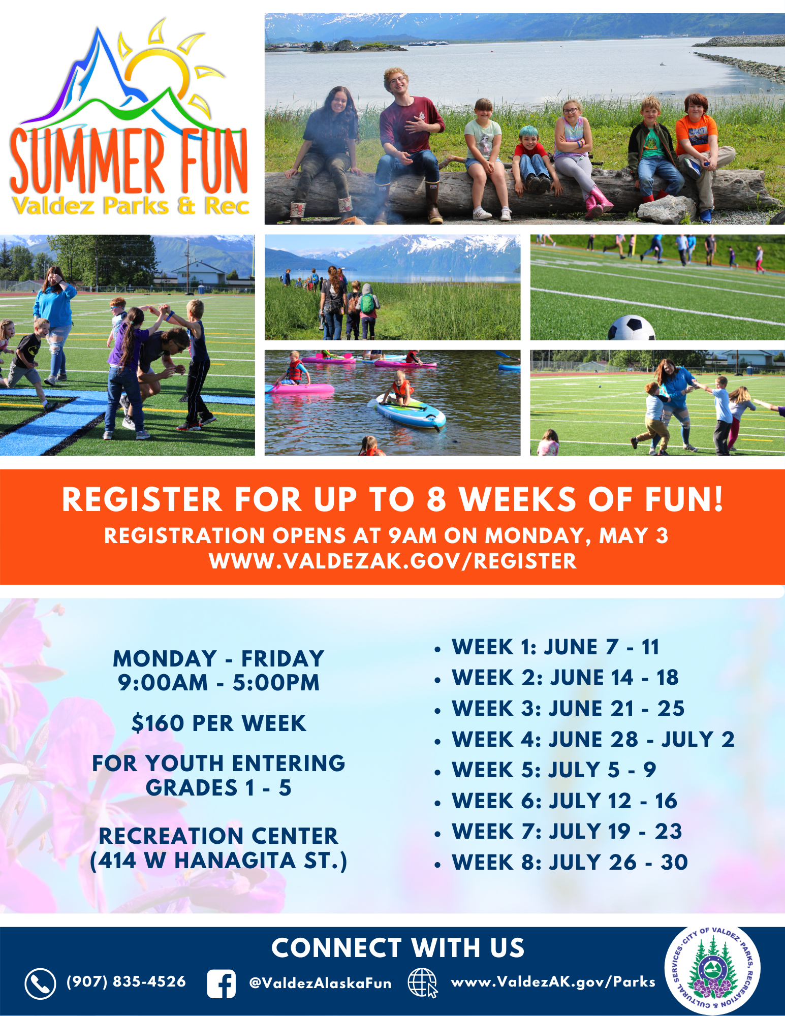 Summer Fun Camps 2021 Flyer