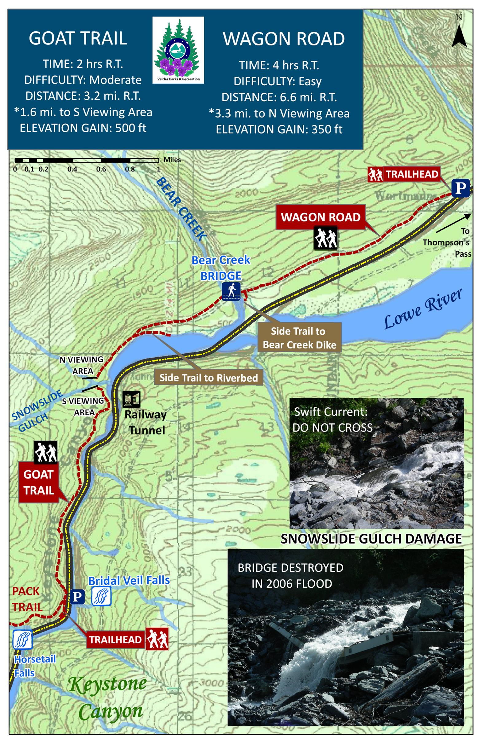 Goat Trail - Wagon Road Map