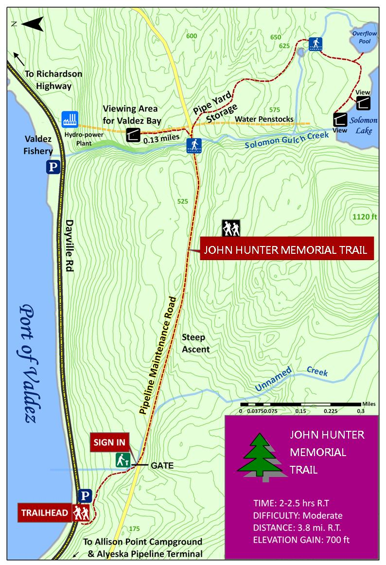 John Hunter Memorial Trail Map